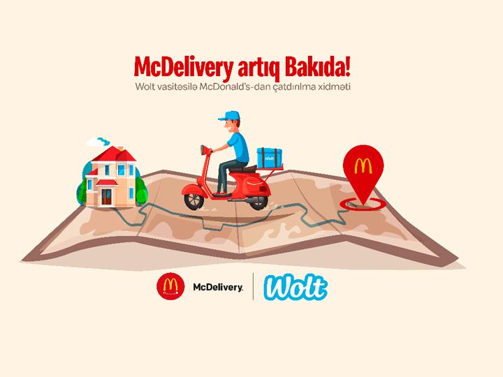 McDelivery artıq Bakıda! McDonald's sevimli məhsullarını çatdırmaq üçün Azərbaycanda Wolt ilə əməkdaşlığa başladı