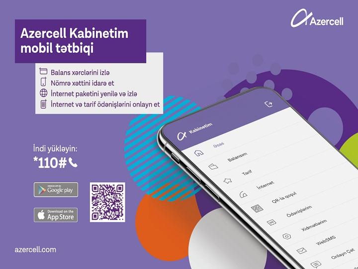 """Azercell-in """"Kabinetim"""" mobil tətbiqi yeniləndi!"""