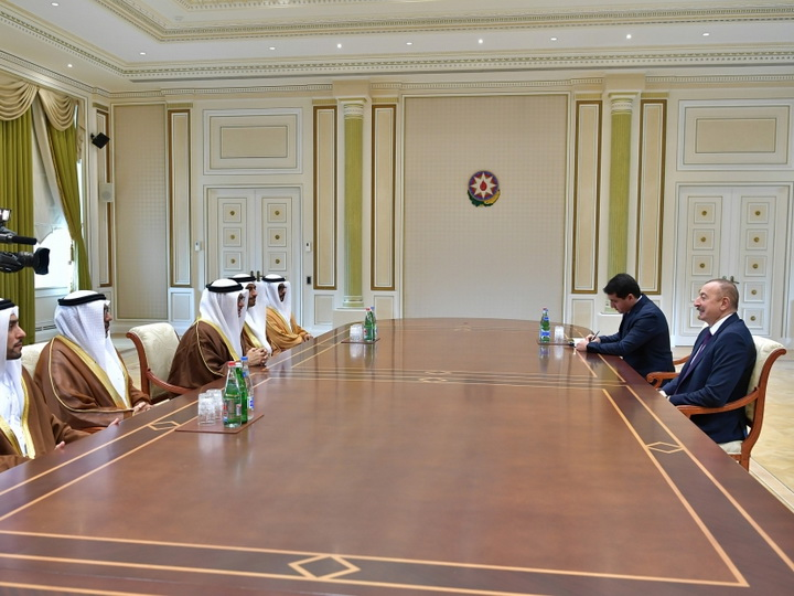 Президент Ильхам Алиев принял делегацию под руководством государственного министра иностранных дел ОАЭ - ФОТО