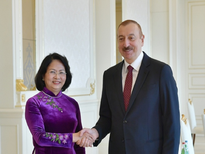 Prezident İlham Əliyev Vyetnamın vitse-prezidentini qəbul edib – FOTO