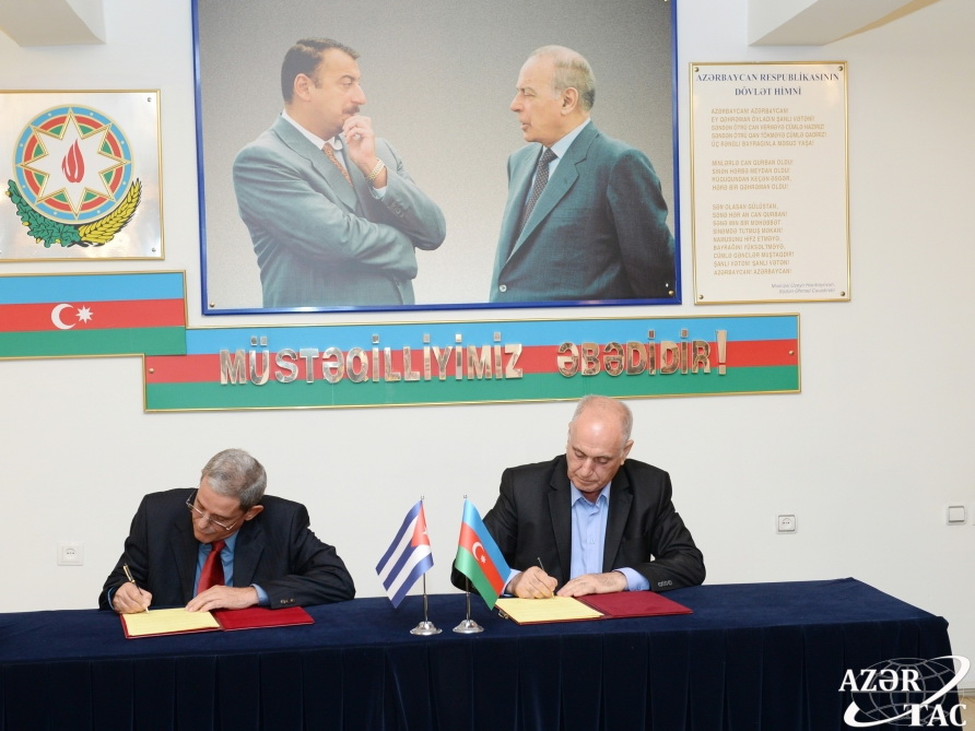 АЗЕРТАДЖ и кубинское агентство Prensa Latina подписали меморандум о сотрудничестве - ФОТО