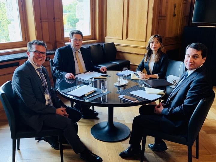 Хикмет Гаджиев провел встречи с представителями правительства Швейцарии - ФОТО