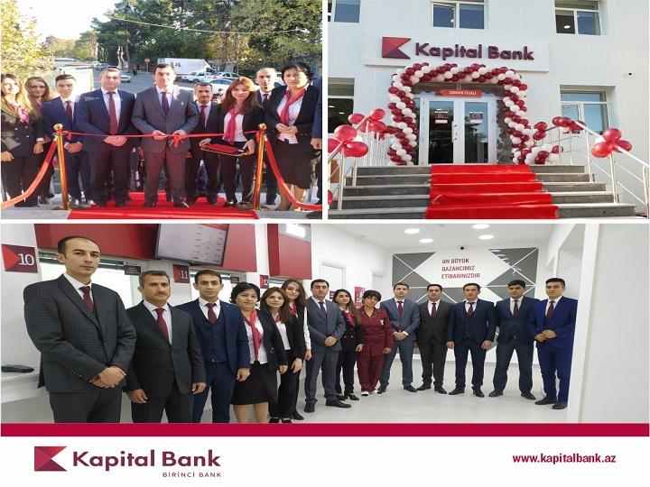 Kapital Bank yenilənən Şəmkir filialını istifadəyə verdi