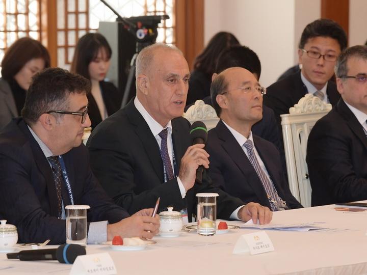 Koreya Respublikasının Prezidenti Mun Ce-in AZƏRTAC-ın rəhbərlik etdiyi OANA-nın nümayəndə heyətini qəbul edib - FOTO