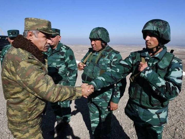 Начальник Госпогранслужбы и военный прокурор Азербайджана посетили воинские части на границе с Арменией - ФОТО