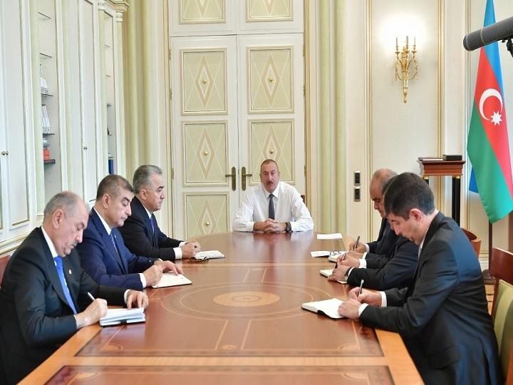 İlham Əliyev yeni icra başçılarını qəbul edib – FOTO