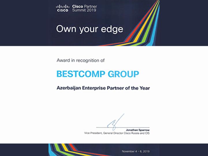 Bestcomp Group  выбрана «Партнером года в Азербайджане» на саммите CISCO