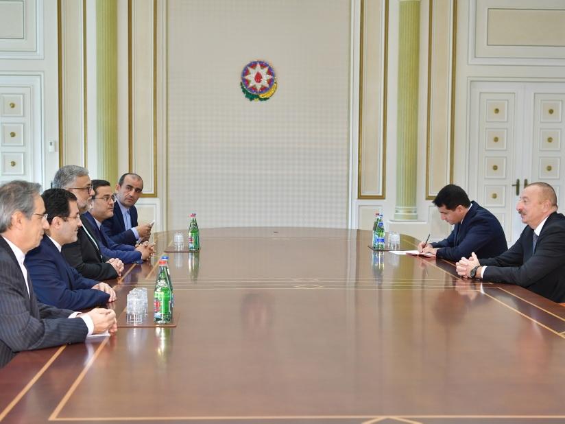 Президент Ильхам Алиев принял делегацию во главе с председателем Организации культуры и исламских связей Ирана - ФОТО