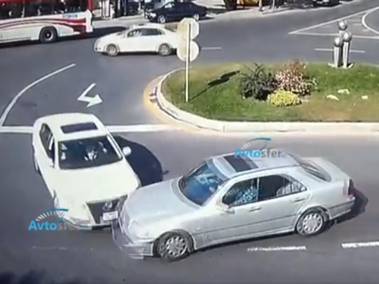 «Правила не для нас»: Столкновения на перекрестках Баку - ВИДЕО