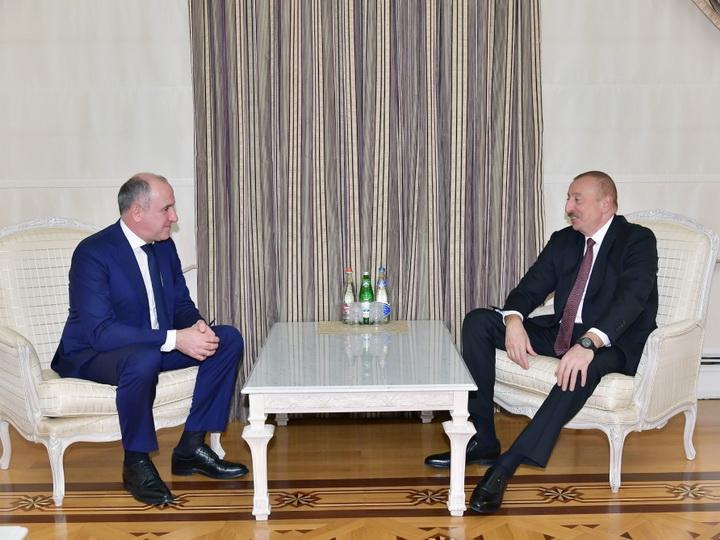Президент Ильхам Алиев принял делегацию под руководством главы Карачаево-Черкесской Республики России - ФОТО