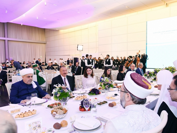От имени Президента Ильхама Алиева был дан прием в честь участников II Бакинского саммита мировых религиозных лидеров - ФОТО