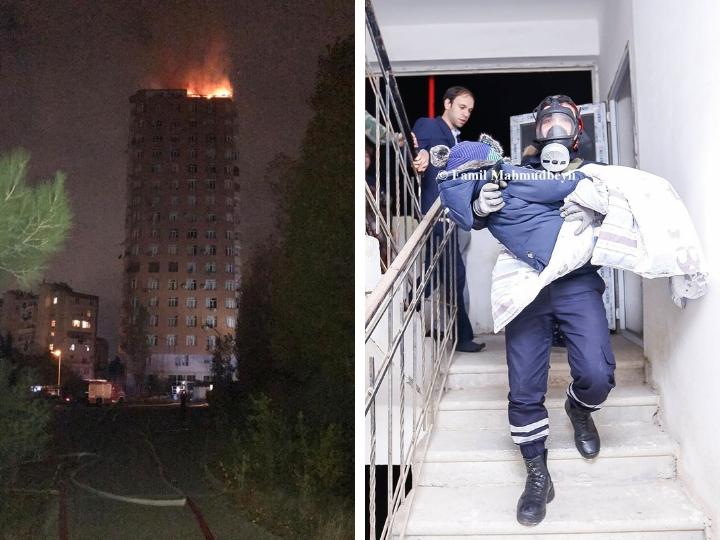 Новые подробности пожара в бакинской новостройке и спасения детей – ФОТО