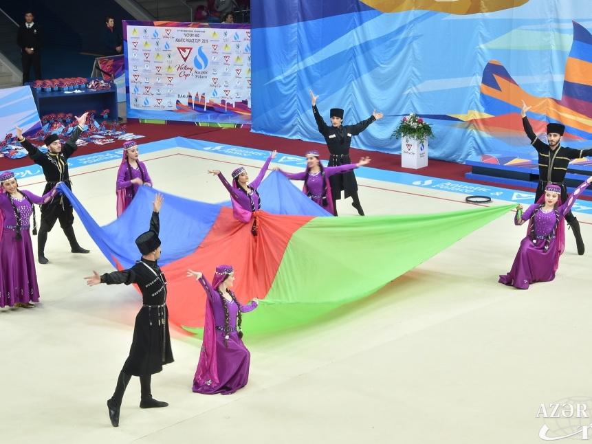 В Баку состоялась церемония открытия международного турнира по художественной гимнастике - ФОТО