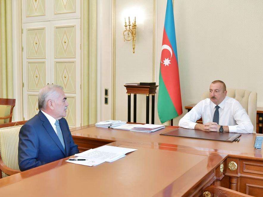 Президент Ильхам Алиев принял председателя Верховного Меджлиса Нахчыванской АР - ФОТО