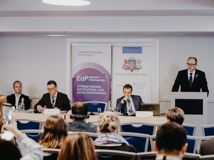 Медиа-конференция Восточного партнерства: В фокусе - поддержка СМИ - ФОТО