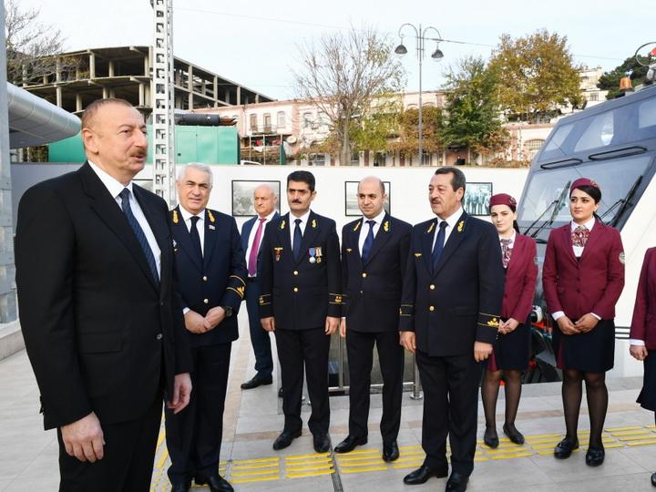 Президент Ильхам Алиев: Азербайджан превращается в важный железнодорожный пункт для многих стран - ФОТО - ВИДЕО