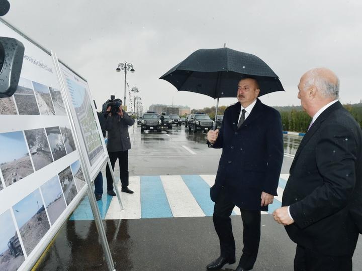 Президент Ильхам Алиев ознакомился с условиями, созданными на новом участке Сумгайытского бульварного комплекса - ФОТО