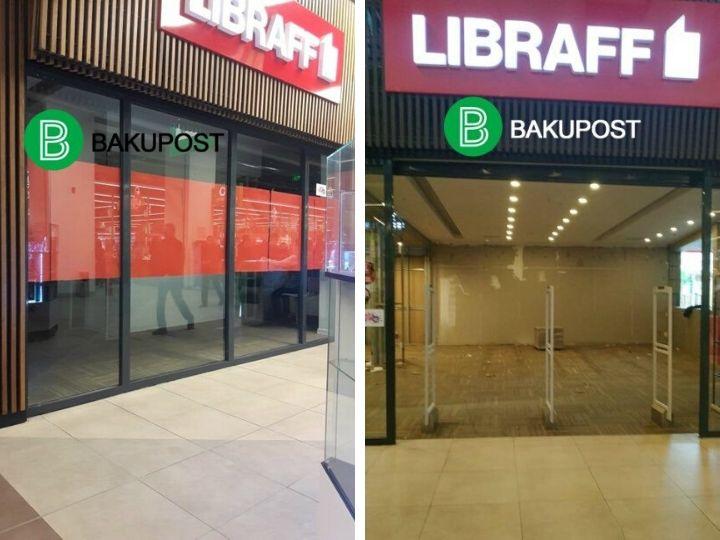 В Баку закрылись два филиала LİBRAFF – ФОТО
