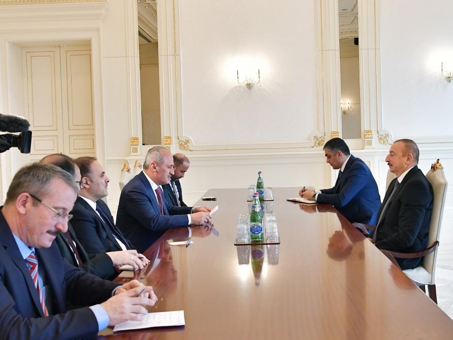 Президент Ильхам Алиев принял делегацию во главе с министром транспорта и инфраструктуры Турции - ФОТО