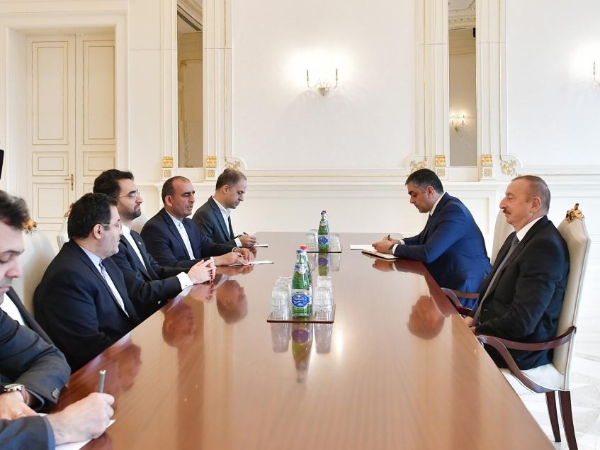 Президент Ильхам Алиев принял делегацию во главе с министром связи и информационных технологий Ирана - ФОТО