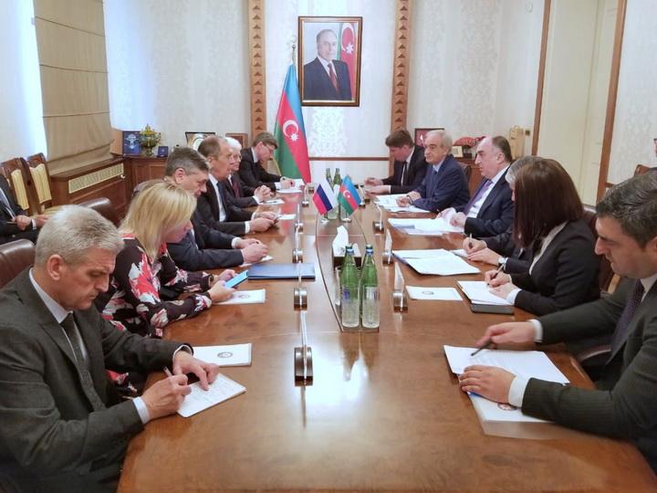 Состоялась встреча глав МИД Азербайджана и РФ - ФОТО