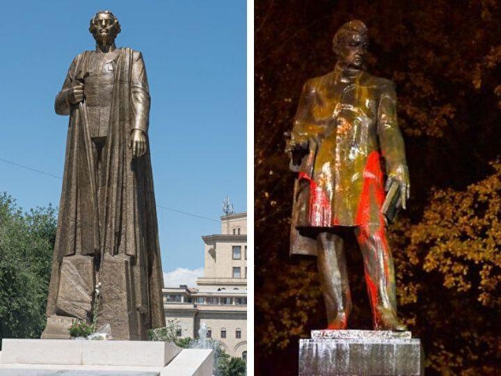 «Месть за фашиста?»  В Армении осквернили памятник русскому поэту Александру Грибоедову – ФОТО - ВИДЕО