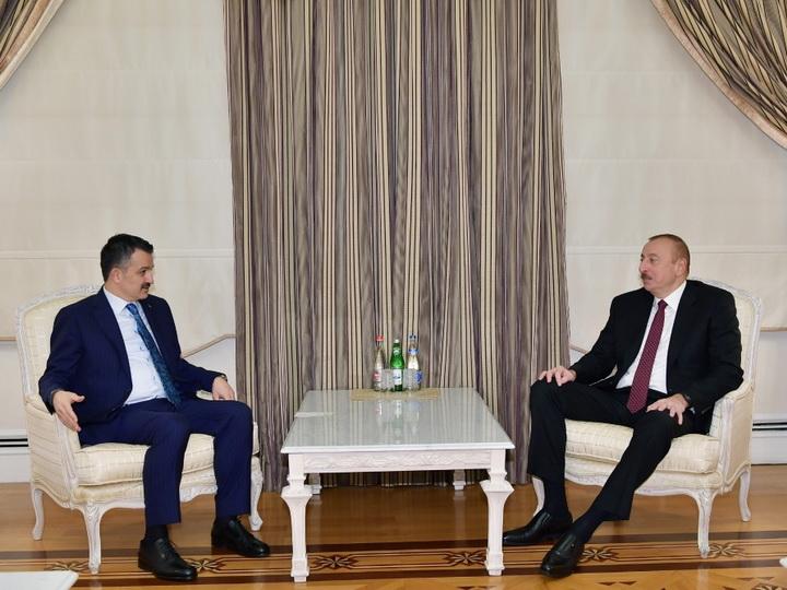 Президент Ильхам Алиев принял министра сельского и лесного хозяйства Турции -ФОТО