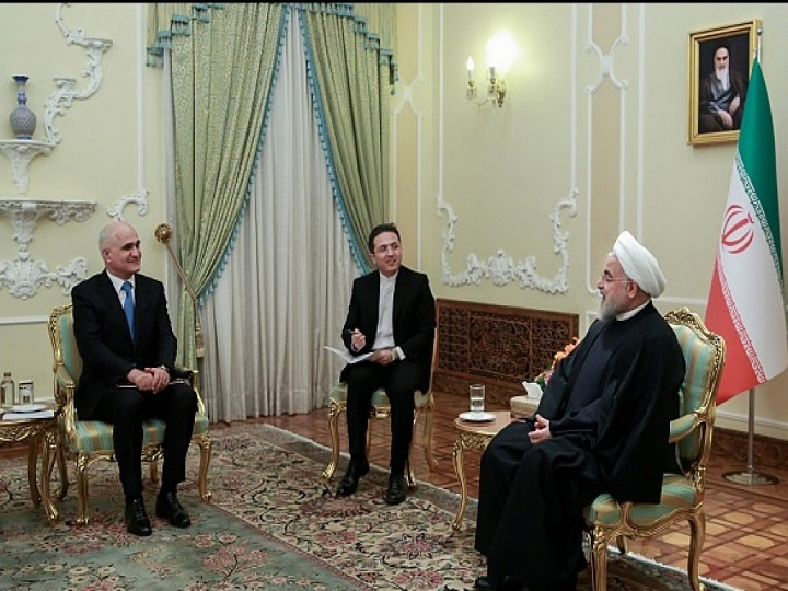 Azərbaycan nümayəndə heyəti İran prezidenti ilə görüşüb – FOTO