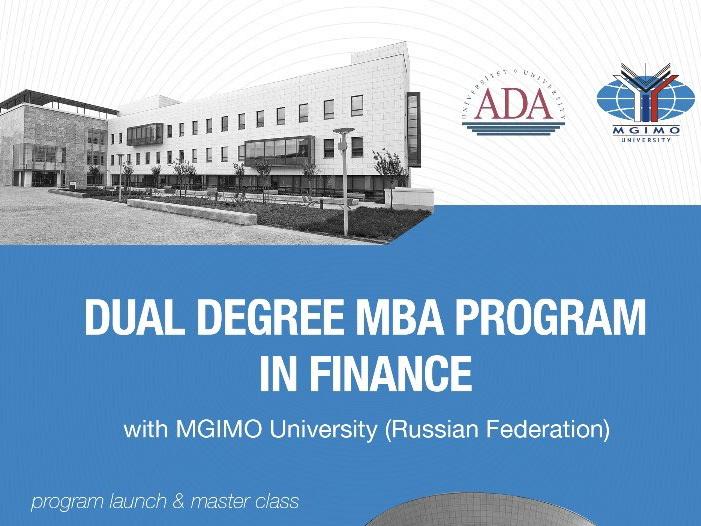 Университет ADA запускает совместную с МГИМО программу MBA по финансам – ФОТО