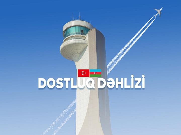"""""""Dostluq dəhlizi"""": Azərbaycan və Türkiyə arasındakı yeni hava dəhlizi – VİDEO"""