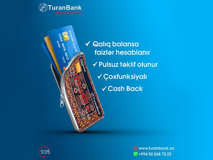 TuranBankdan çoxfunksiyalı kart!