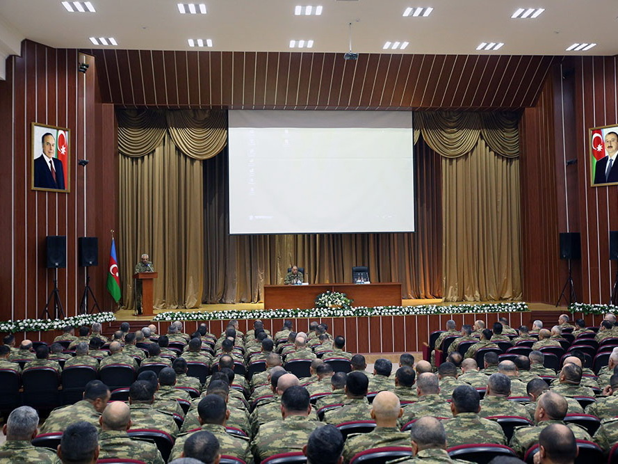 Проводятся сборы командного состава азербайджанской армии – ФОТО