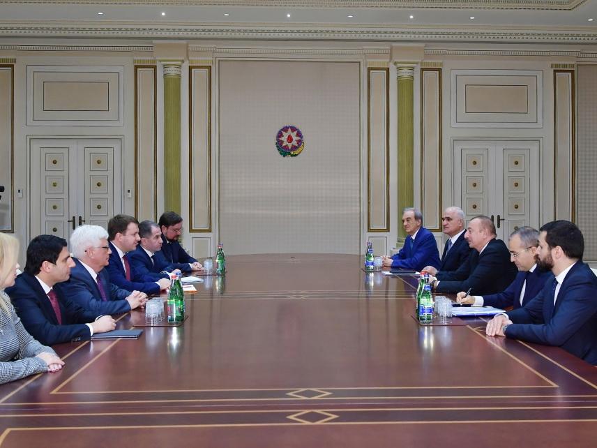 Президент Ильхам Алиев принял делегацию во главе с министром экономического развития РФ - ФОТО