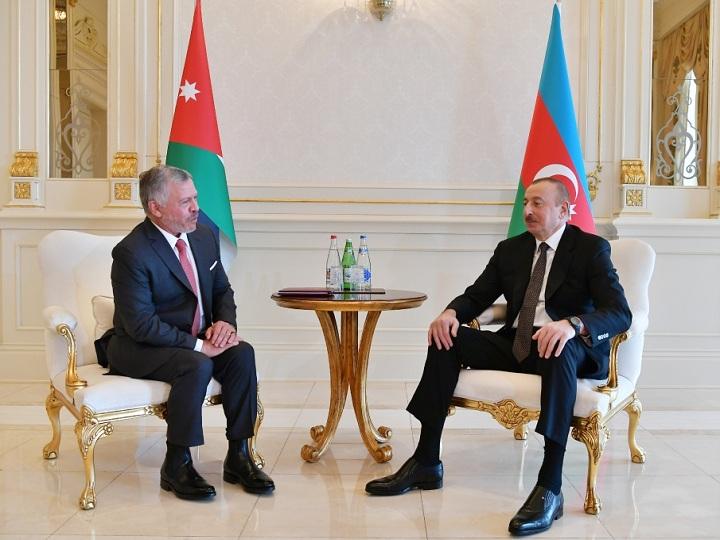 Azərbaycan Prezidentinin İordaniya Kralı ilə təkbətək görüşü olub – FOTO