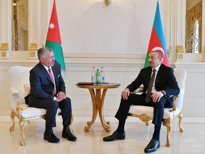 Состоялась встреча Президента Азербайджана и Короля Иордании один на один
