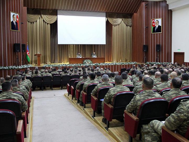 Проведены сборы командного состава азербайджанской армии – ФОТО