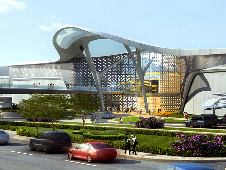 Будущее уже в Баку: White City Mall, сказочный пешеходный мост и необычная Площадь фонтанов - ФОТО