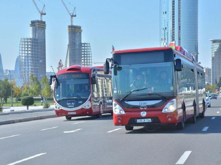 BNA: Sabah bəzi avtobusların hərəkət trayektoriyası dəyişdiriləcək