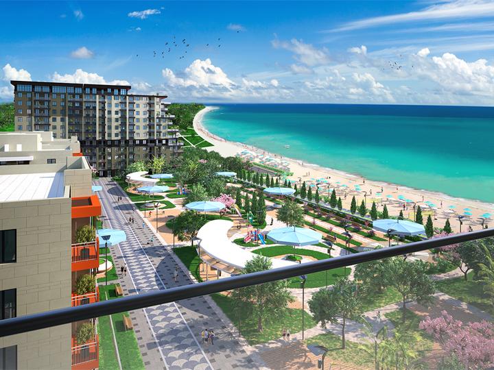 На побережье Каспия cтроится курортный жилой комплекс - ФОТО