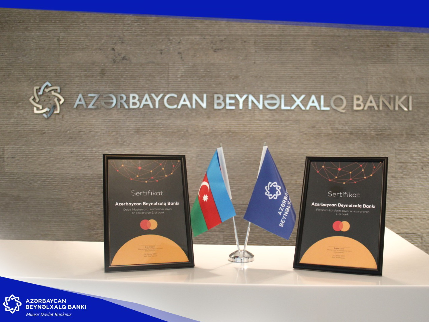 MasterCard вручила Международному банку Азербайджана две награды