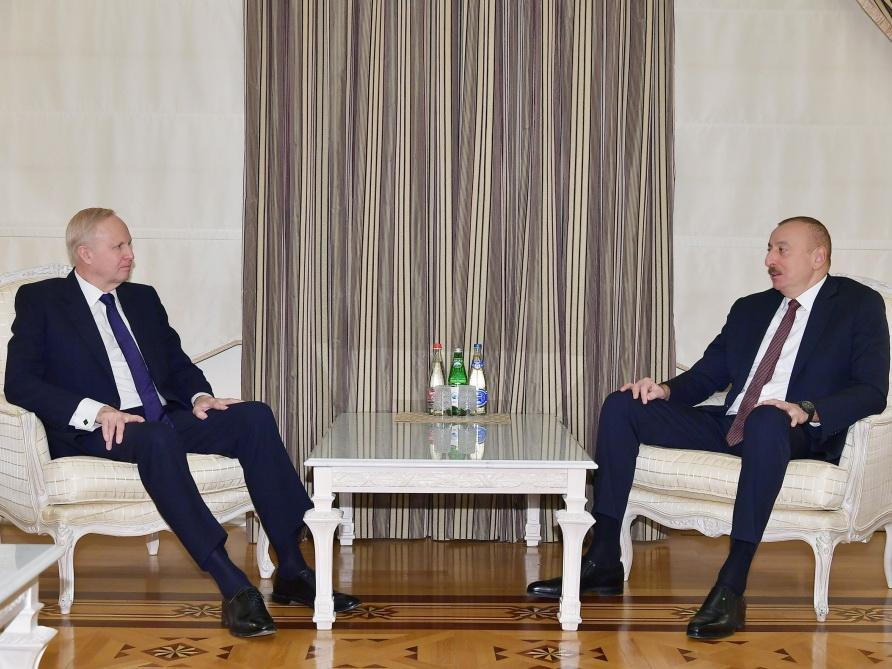Президент Азербайджана Ильхам Алиев принял генерального исполнительного директора группы ВР