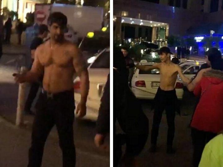 МВД о полуголых мужчинах, с ножом бросавшихся на людей в центре Баку - ФОТО - ВИДЕО - ОБНОВЛЕНО