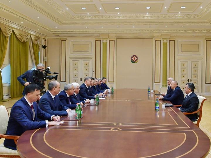 Президент Ильхам Алиев принял делегацию во главе с губернатором Астраханской области России - ФОТО