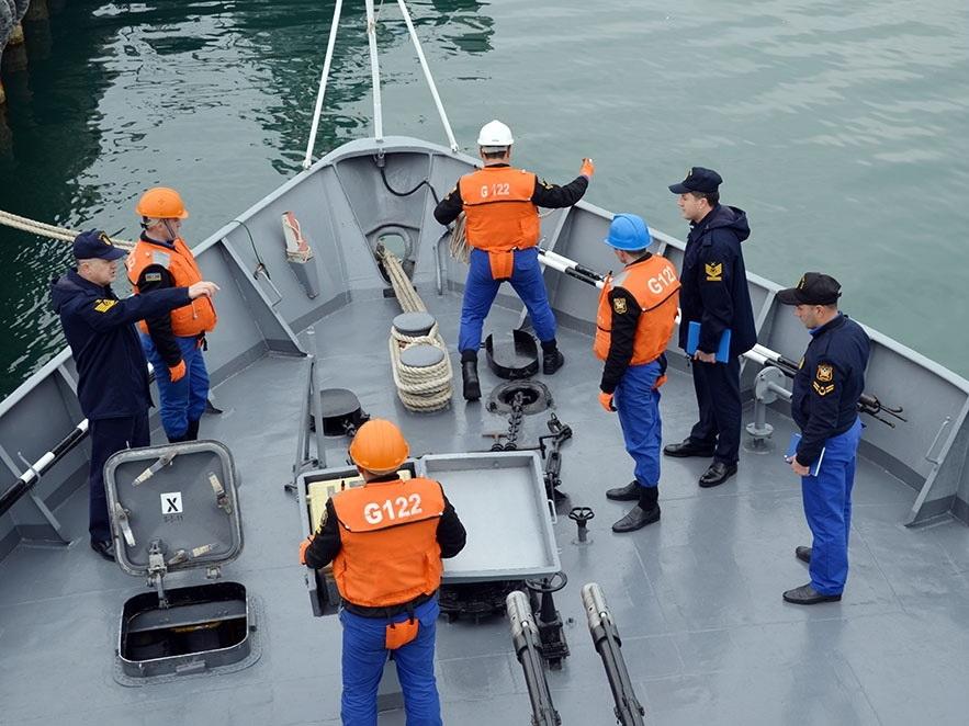 Турецкая делегация наблюдала за учебными тренировками Военно-морских сил Азербайджана - ФОТО