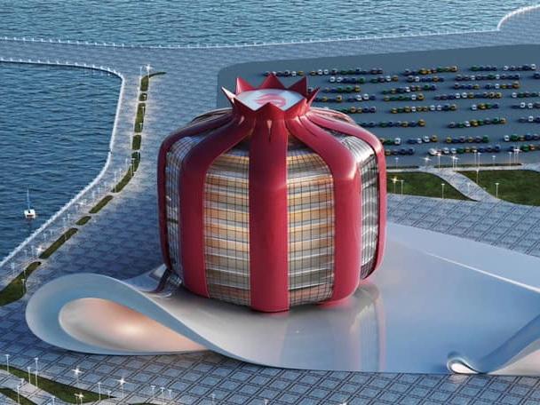 На Бакинском бульваре предложено построить величественное здание-гранат - ФОТО