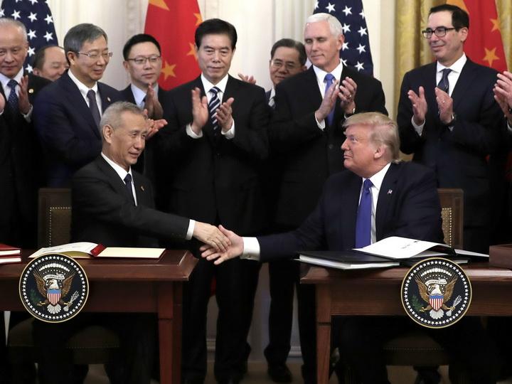 США и Китай подписали первый пакет документов по торговому соглашению