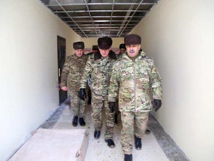 Zakir Həsənov tikintisi yekunlaşmaq üzrə olan hərbi obyektlərə baxış keçirib – FOTO