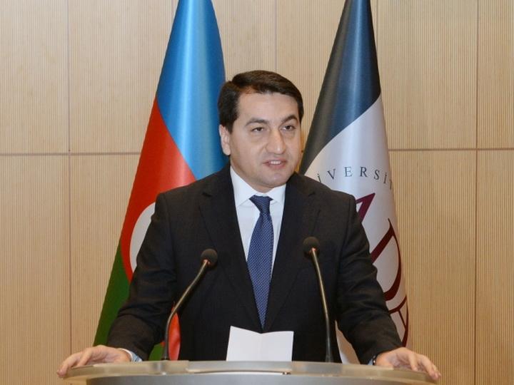 Хикмет Гаджиев: Вместо абсурдных высказываний по поводу урегулирования конфликта армянской стороне следует предпринимать необходимые шаги