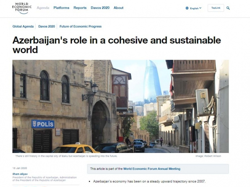 Azerbaijan's role in a cohesive and sustainable world