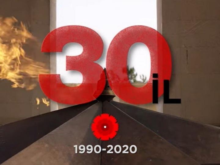 Президент поделился видеороликом по случаю 30-ой годовщины трагедии 20 Января - ВИДЕО